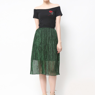 HOST T SHIRT W/ ROSE WITH SHINY SKIRT (FREE SIZE)