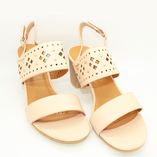 Raven One Strap Sandals on Chunky Heel