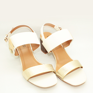 Zara One Strap Sandals on Chunky Heel