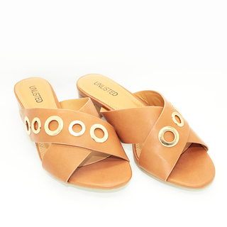 Naomi Heels Sandals with Cross Strap Design