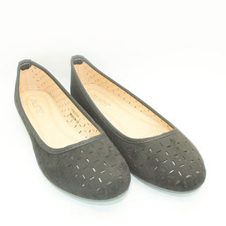 Farrah Flat Shoes With Lazercut Design