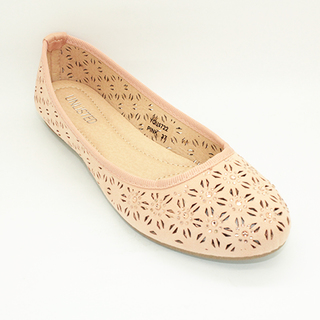 Bonnie Flat Shoes With Lazercut Design