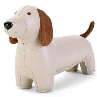 Zuny Classic Daschund Bookend (Wheat)