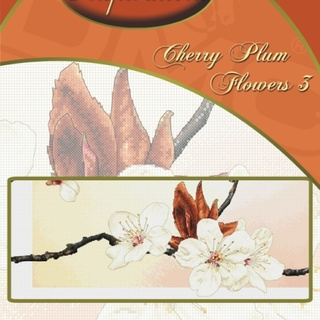 DMC INSPIRATIONS CROSS-STITCH KIT: CHERRY PLUM FLOWERS 3 (ECK-043)