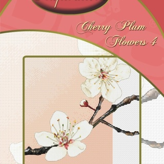 DMC INSPIRATIONS CROSS-STITCH KIT: CHERRY PLUM FLOWERS 4 (ECK-044)