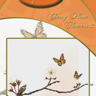 DMC INSPIRATIONS CROSS-STITCH KIT: CHERRY PLUM FLOWERS 2 (ECK-042)
