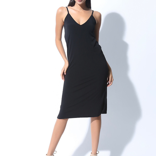 FOLDED AND HUNG  SL LONG STRAP DRESS (L7BCTD12B)