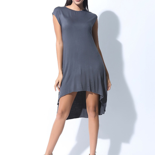 FOLDED AND HUNG  SS RN TRAPEZE DRESS (L7BCTD03A)