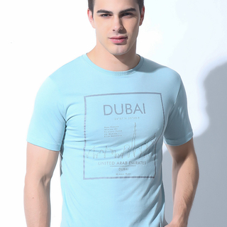 FOLDED AND HUNG MENS TOPS LIGHT BLUE (M7SETT64L)