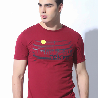 FOLDED AND HUNG MENS TOPS MAROON (M7SETT63R)