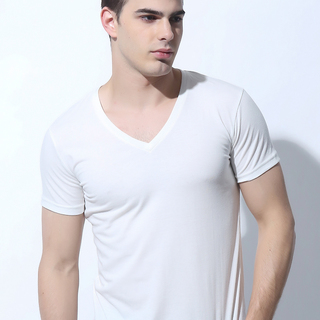 FOLDED AND HUNG MENS TOPS BRIGHT WHITE (M6HETT09W)