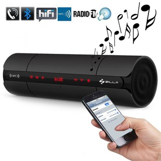 Zilla Multifunctionn Bluetooth NFC Speaker With FM AUX And MP3 Player - Black
