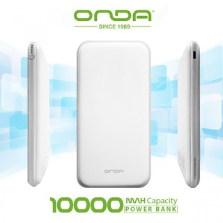 Onda N100T Plus Dual Port 10,000 Mah Powerbank With Lightning And Micro USB Charging Port - White