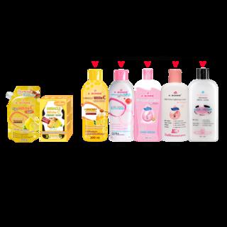 Abonne - A098 White C Salt + A022 Creamy White C Soap + Lotion ( of your choice )