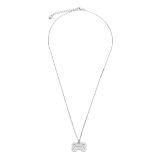 Silverworks N3738 Bone Design Necklace