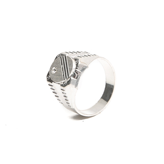 Silverworks R6130 Signet Mens Ring