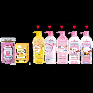 Abonne - A710 Spa Milk Salt Zip Lock x A022 Creamy White C Soap x Big Lotion ( of your choice )