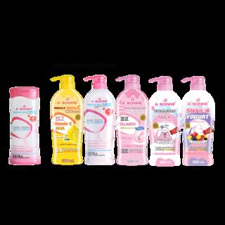 Abonne -  A053 Glutathione Shower Cream 400ml x Big Lotion ( of your choice )