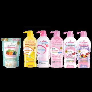Abonne -  A092 Fruit Yogurt Spa Shower Salt x Big Lotion ( of your choice )