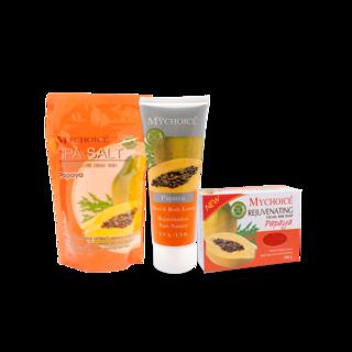 Mychoice - Spa Salt Pouch (SS350g) x Body Lotion (BL100g) x Facial Soap (FS100g)