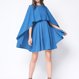 Daria Blue Margaret Cape Dress