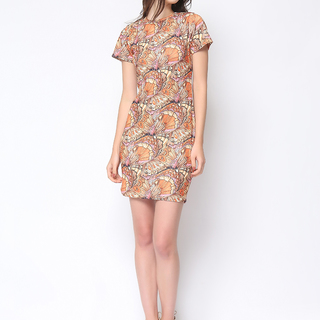 Daria Orange Kimberly Dress