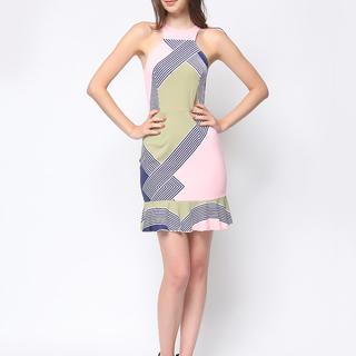 Daria  Pink Multi Print Karlie Dress