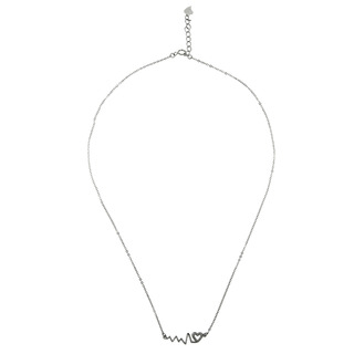 Silverworks N3676 Small Heartbeat Necklace