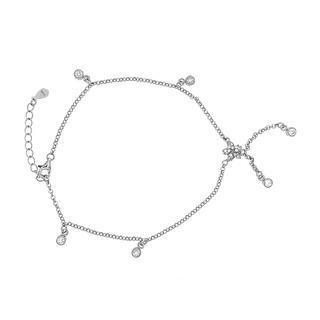 Silverworks B5146 Flower Design Anklet