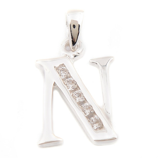 SILVERWEORKS C4230 Alphabet Initial Letter N Pendant