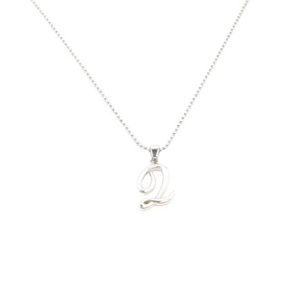 Silverworks X1775 Letter Q Necklace