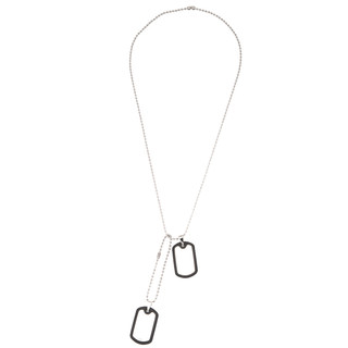SILVERWORKS X1867 DOUBLE RUBBER DOGTAG WITH BALLSCHAIN