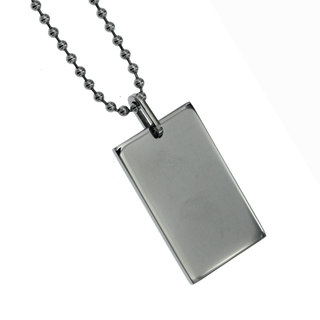 SILVERWORKS X1859 RECTANGULAR DOGTAG WITH BALLSCHAIN