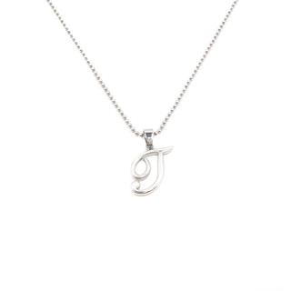 Silverworks X1778 Letter T Necklace (Silver)