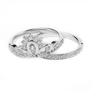 Silverworks R6203 Crown Deisgn Ring (Silver)