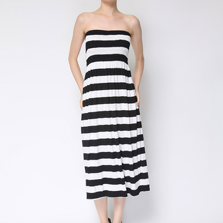 Uropa Black/White Tube Dress (AUV001067)