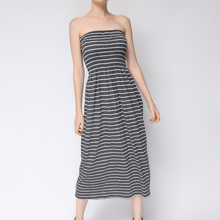 Uropa Gray/White Tube Dress (AUV001068)