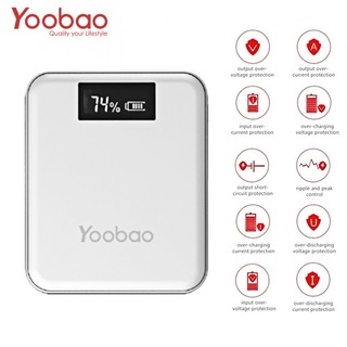 Yoobao M4 Plus 10000 mah 4 USB Output Port 1 Micro USB 1 Lightning Charging Input Port With LCD Indicator