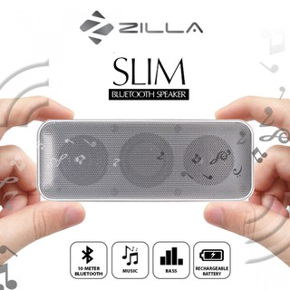 Zilla Card Shaped BluetoothSpeaker 10W Super Bass - White
