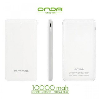 ONDA 10000 mAh Power Bank - White