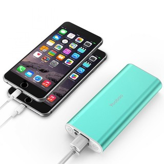 Yoobao Power Bank SP2 10000mAh Charger Dual USB Port - Green