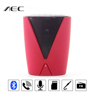 Multifunction Bluetooth Speaker With FM Radio And MP3 Player - Red