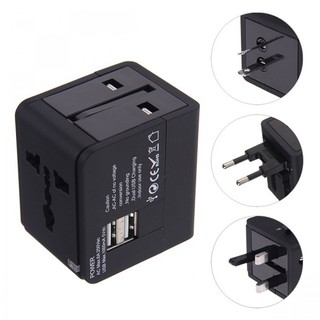 Travel Adapter with Dual USB Charger