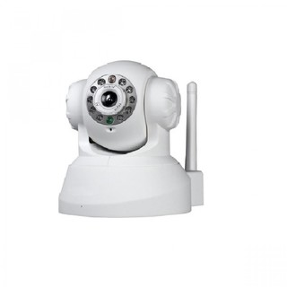 Phone APP Controlled Indoor P2P MJPEG IP Camera With Pan Tilt And Zoom - White
