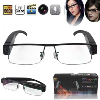 1080P Camera Half Rim Eyewear DVR Video Recorder - Black