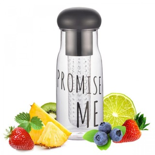 Promise Me BPA Free 750 ml Water Bottle With Fruit Infuser - Black