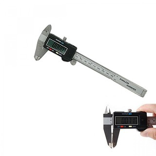 100mm Stainless Steel Digital Caliper - Black