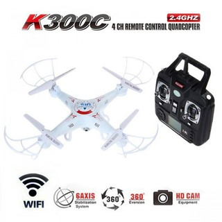 K300C Quadcopter with 2.4GHz 4 Channel Remote Control And Wifi Camera - White