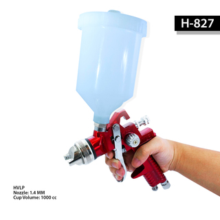 Gravity Pressured Paint Spray Gun - RED