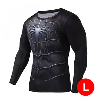 Super Hero Bike Wear Spider Man Large - Black
